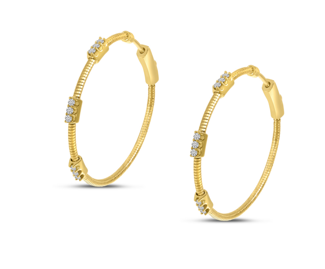 Diamond Flex Hoop Earrings