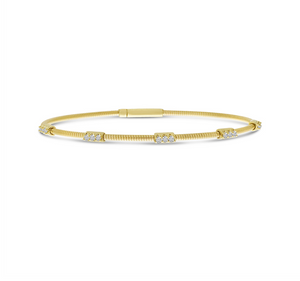 Triple Set Diamond Flex Bracelet