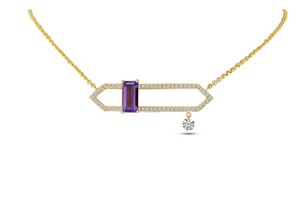 Dashing Amethyst Open Necklace