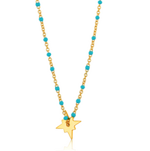 Load image into Gallery viewer, Gold Dotted Star Necklace