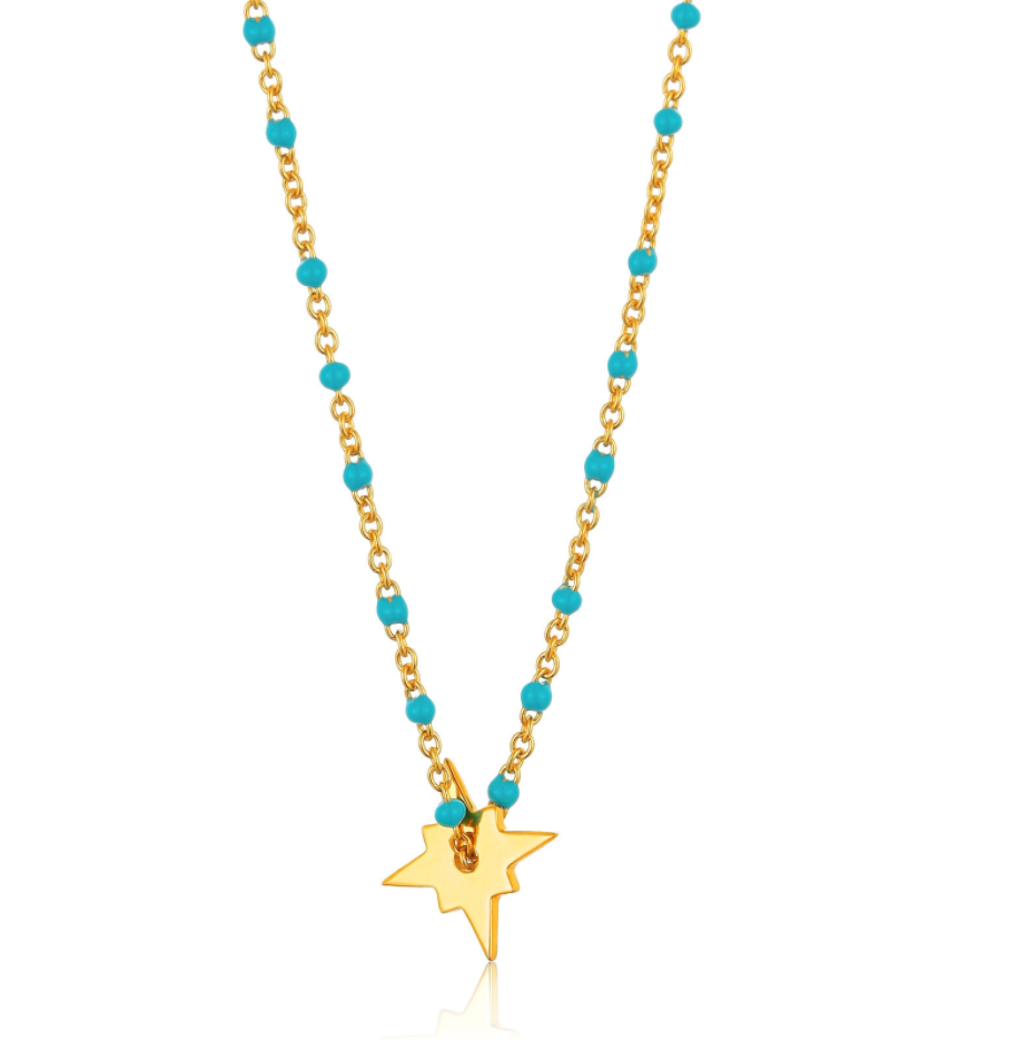 Gold Dotted Star Necklace