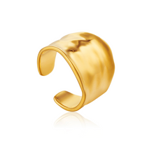 Load image into Gallery viewer, Gold Crush Wide Adjustable Ring