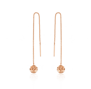Rose Gold Roman Empress Threader Earrings