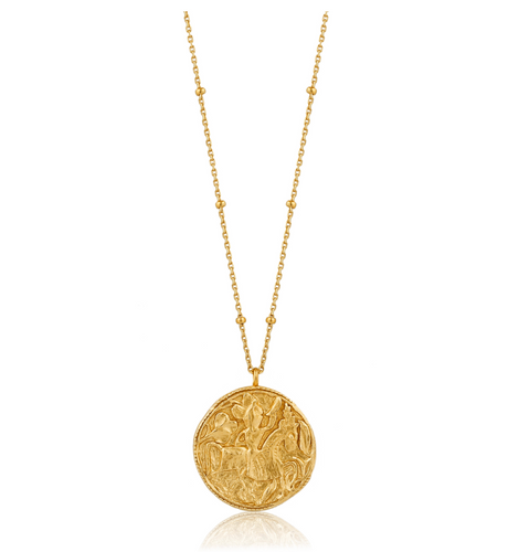 Gold Greek Warrior Necklace