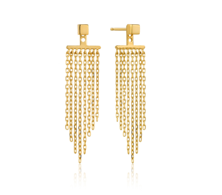 Gold Fringe Fall Ear Jackets