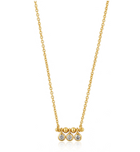Load image into Gallery viewer, Gold Shimmer Triple Stud Necklace