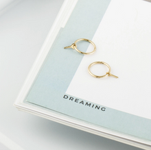 Load image into Gallery viewer, GINA | Key Charm Hoop Earrings