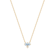 Load image into Gallery viewer, BELLA | Aquamarine and Diamond Necklace