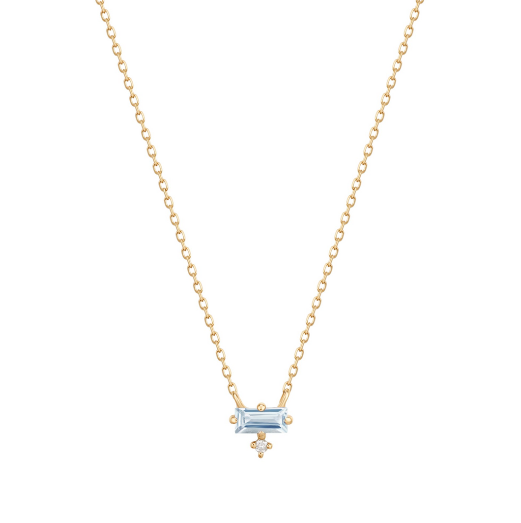 BELLA | Aquamarine and Diamond Necklace