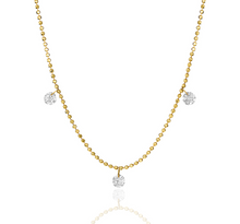 Load image into Gallery viewer, 3 Pierced Diamond by the Yard Necklace