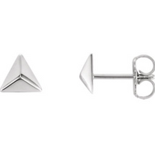 Load image into Gallery viewer, Petite Triangle Earrings