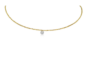 Single-Dashing Diamond Necklace