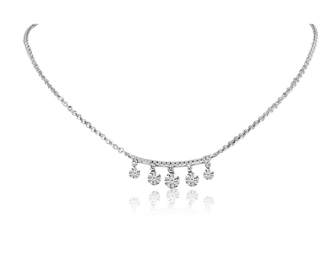 Diamond Bar 5 Dashing Diamond Necklace