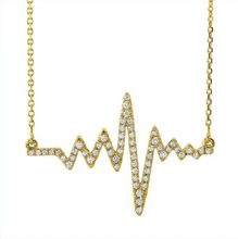 Load image into Gallery viewer, Diamond Heartbeat Necklace