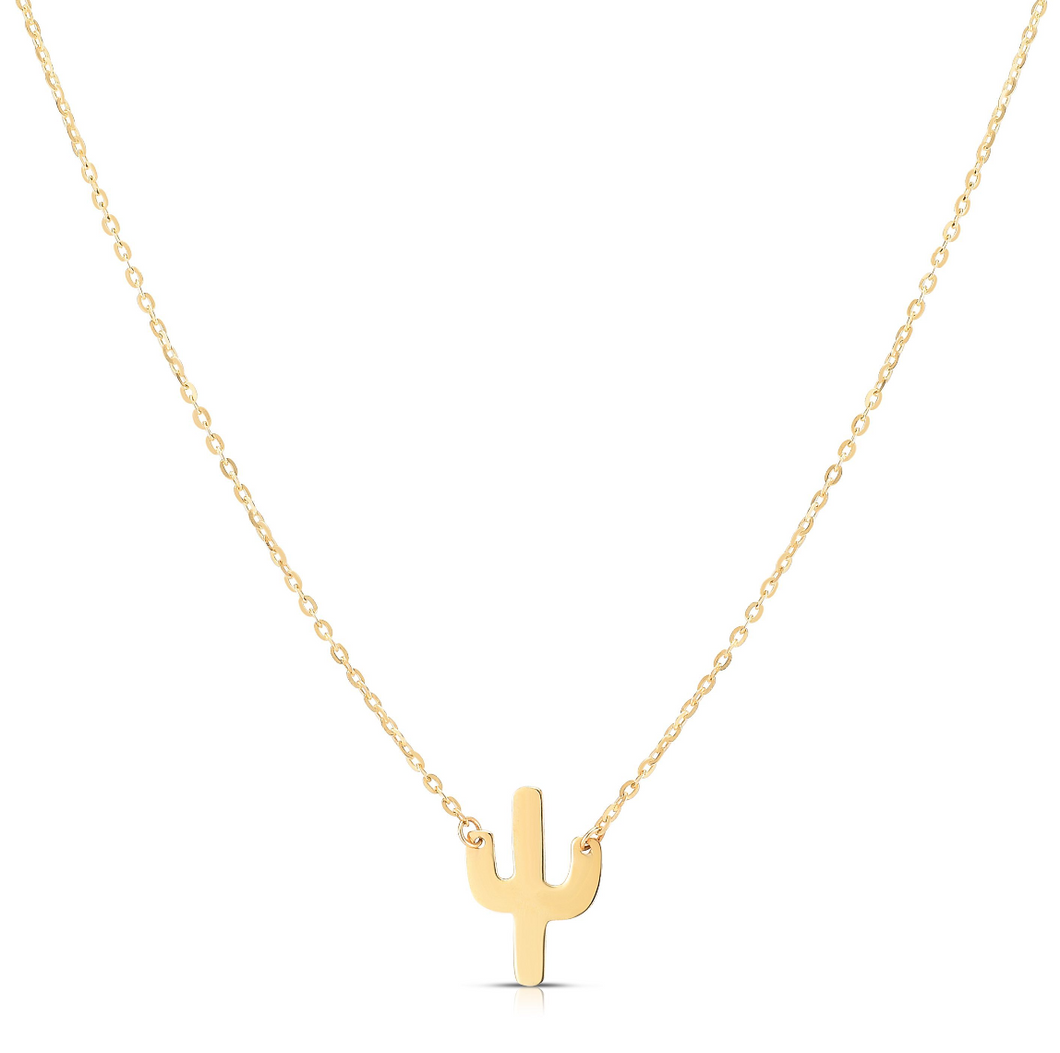 mini cactus necklace