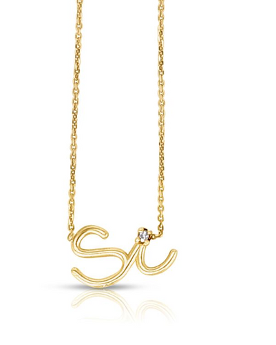 14k Gold Say 'Si' Necklace