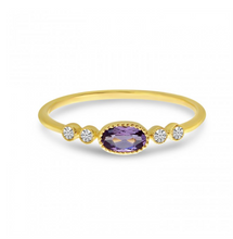 Load image into Gallery viewer, Oval Amethyst and Diamond Stackable