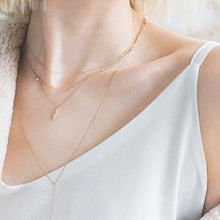 Load image into Gallery viewer, MICHELLE | Diamond Bar Lariat Necklace