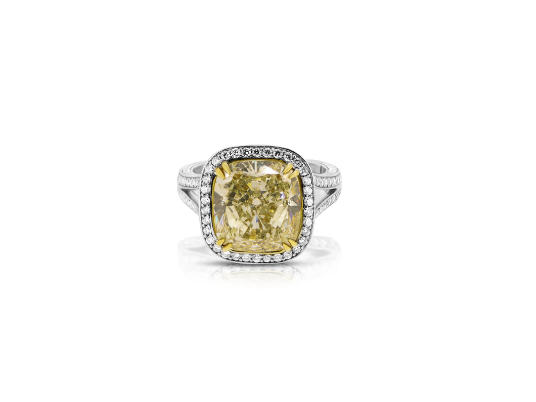 Fancy Yellow Diamond Engagement