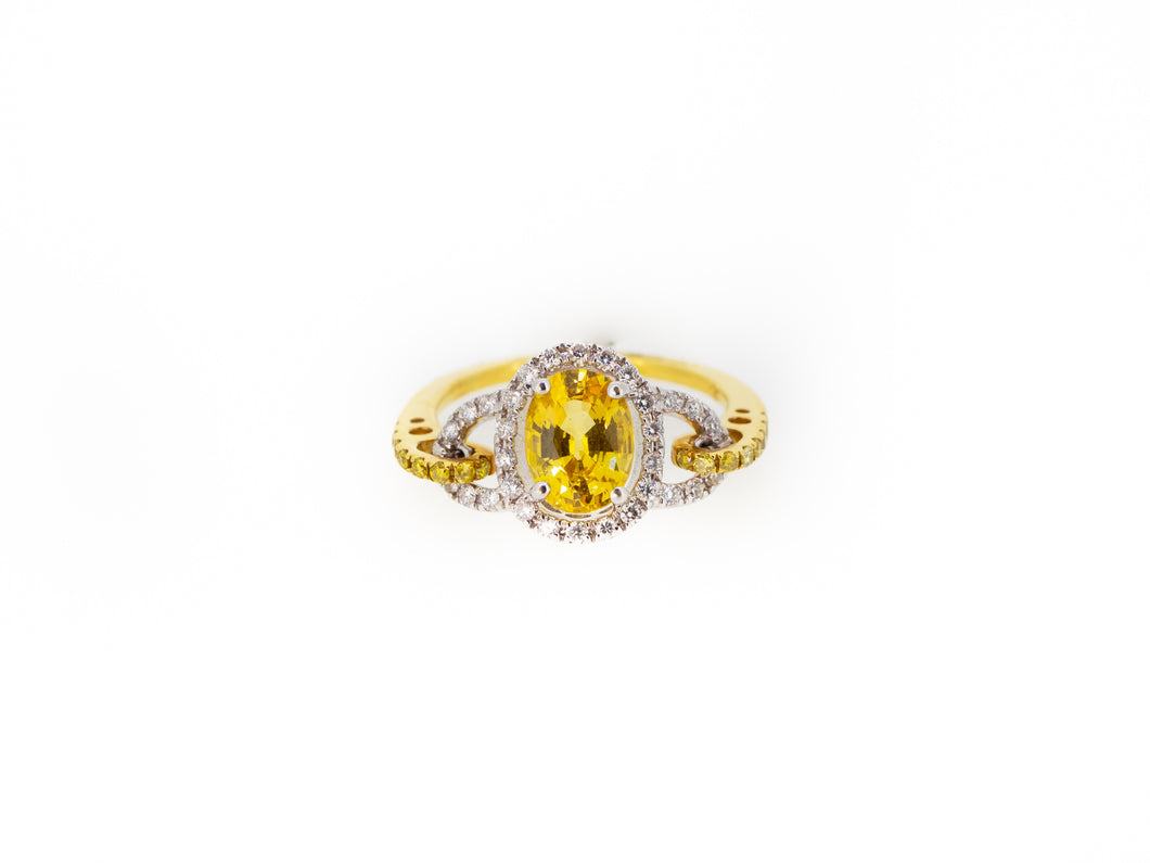 Yellow Sapphire Oval Ring