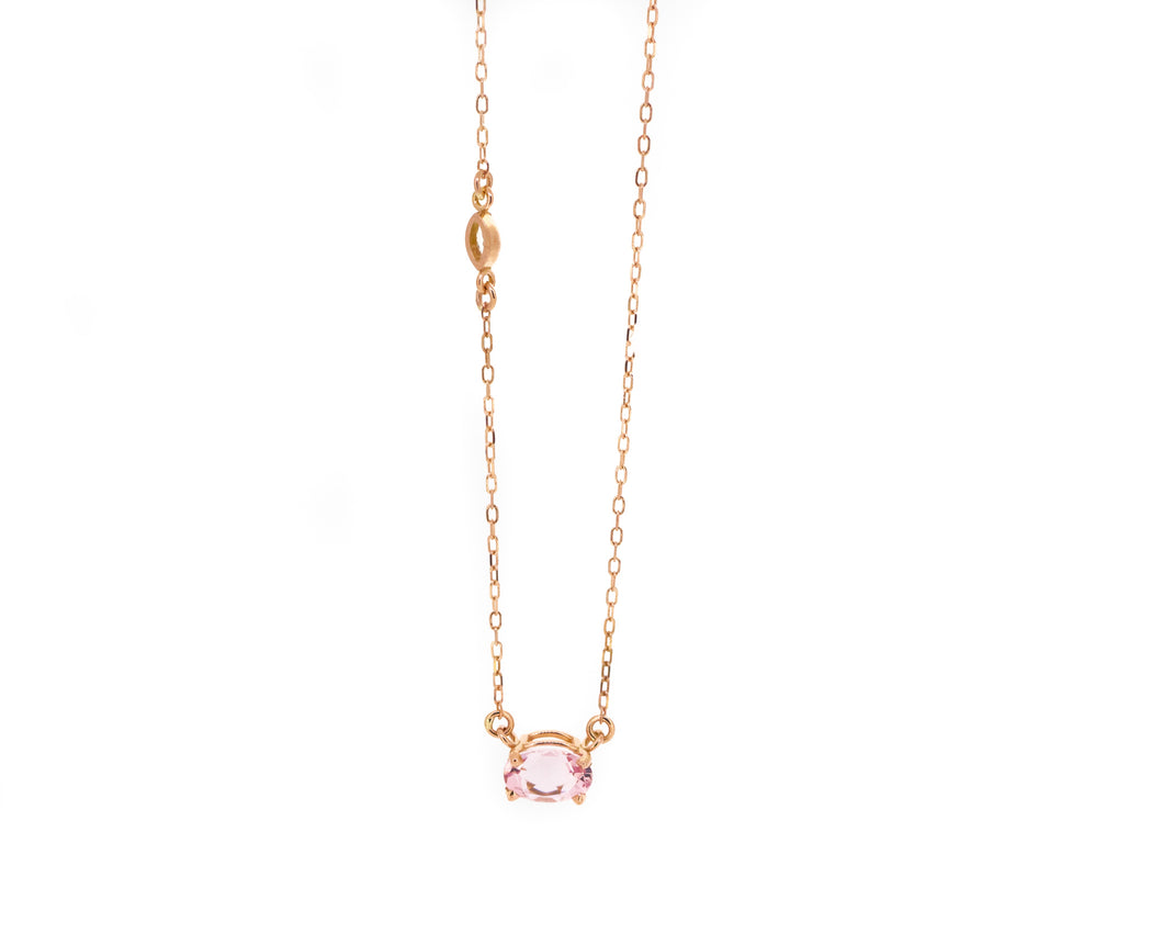 Morganite & Diamond Pair Necklace