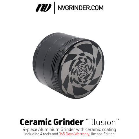 Ceramic coated Grinder - Illusion Series - 4-piece - Ø64mm