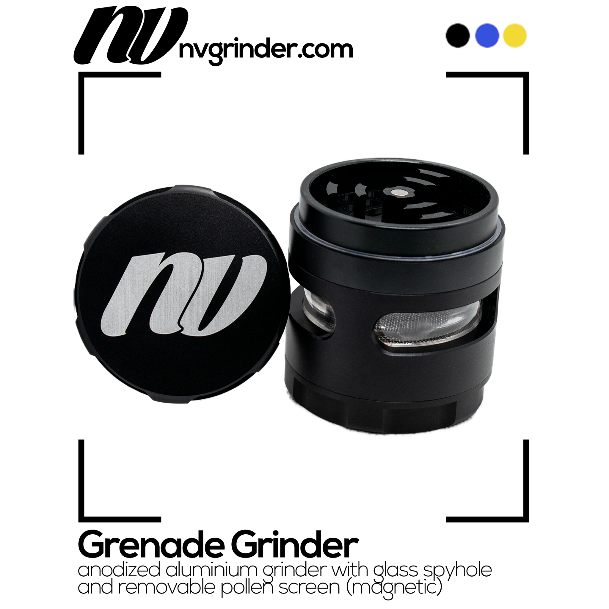 Grinder with window