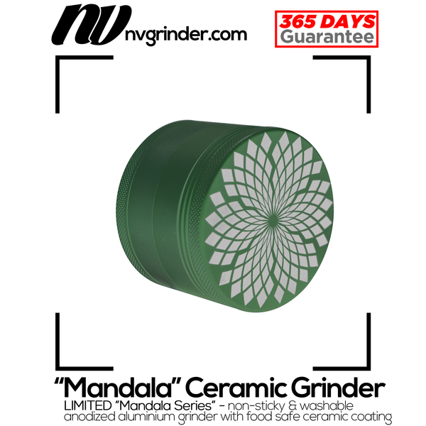 Ceramic coated Grinder - Mandala Series - 4-piece - Ø64mm