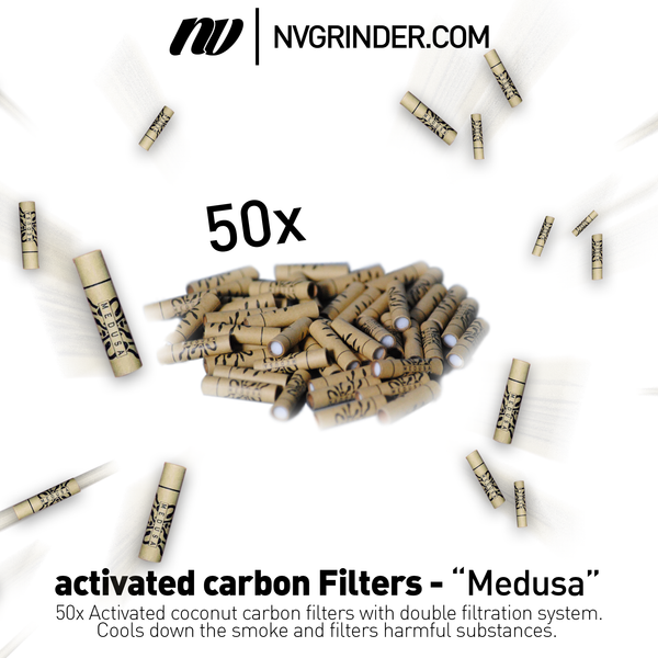 "activated carbon Filters - ""Medusa Filters"" - Ø6mm - 50 pieces"