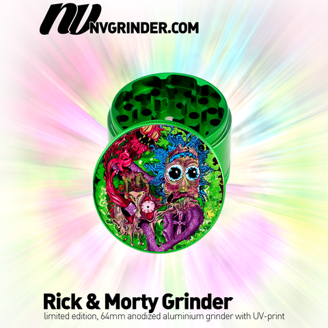 Rick & Morty Grinder - 4-piece - Ø64mm