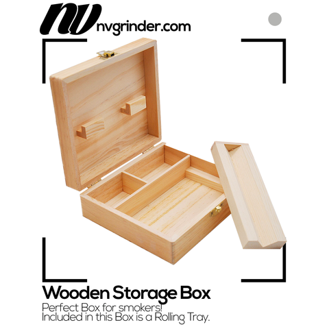 Wooden Storage Box - for smokers