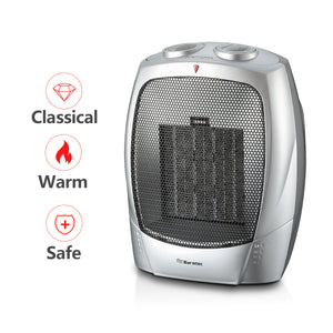 Warmtec 1500w Ceramic Space Heater With Adjustable Thermostat