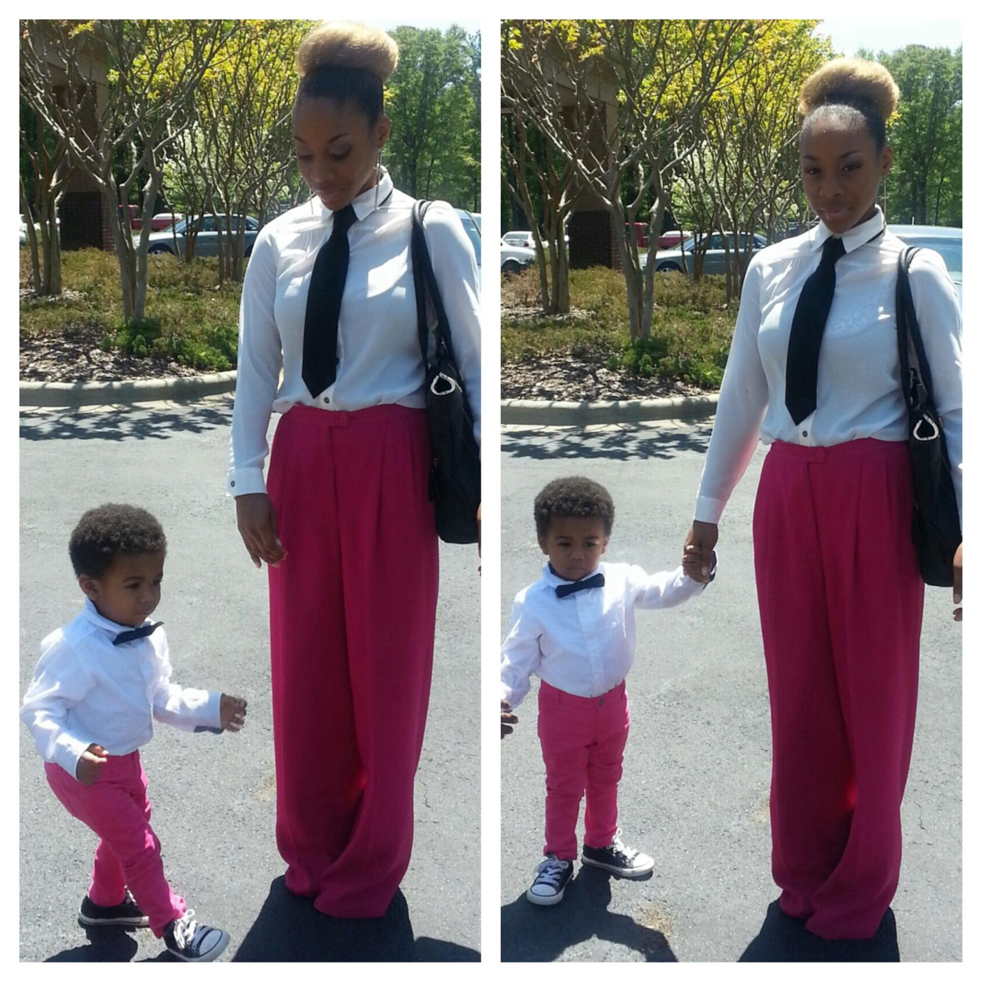 mother and son matching easter outfits