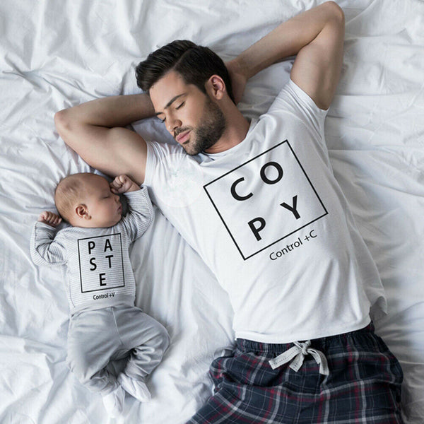 Father Son Family Matching Shirt Men Boy Kids