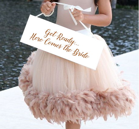 Get ready here comes the bride wedding sign - baby ring bearer outfit