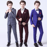 Flower Boys Formal Anzug Suit - ring bearer outfit - Kids Wedding Birthday Party Dress Blazer Vest - MeAndMommy