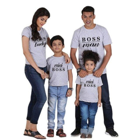 1 Pc Gourd doll Family Matching Outfits Mommy Daddy Kid T-Shirts