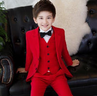 Vest - ring bearer outfit - formal suits  wedding suits for boys child  white/red/black - MeAndMommy