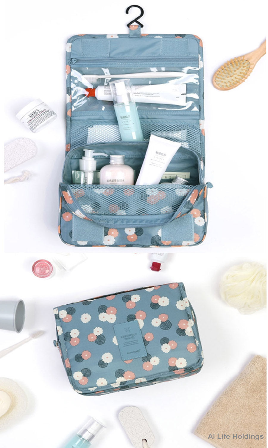 Travel Multifunction Toiletry Cosmetic Bag Makeup Case Pouch