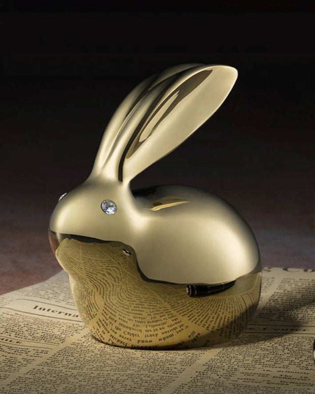 Crystal Brass Lucky Rabbit - AI LIFE HOLDINGS
