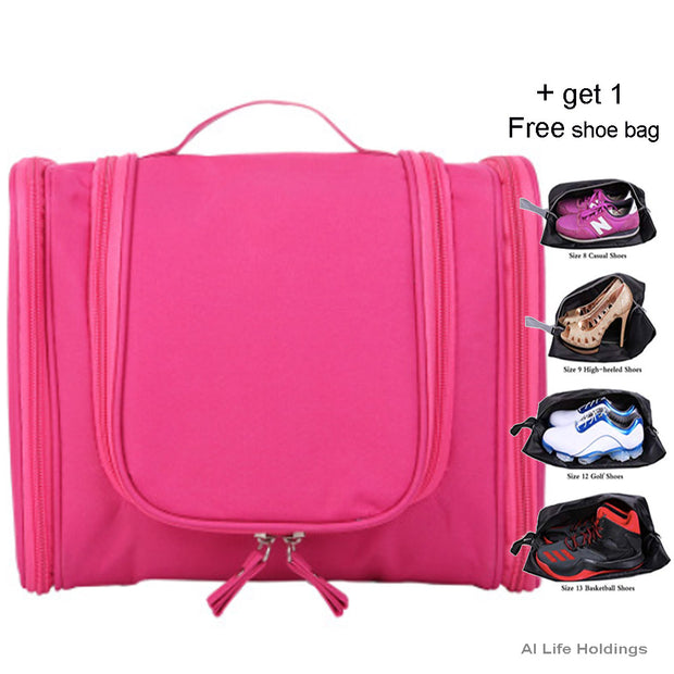 Portable Travel Makeup Toiletry Wash Case Organizer Pouch Storage Hanging Bag - AI LIFE HOLDINGS