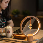 Wooden magnetic spheres Lamp - AI LIFE HOLDINGS