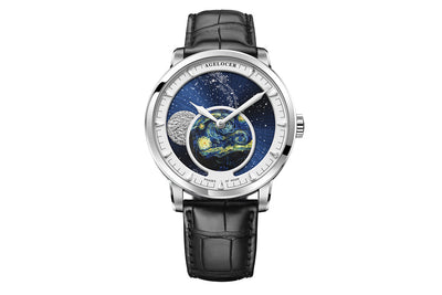 Metal sculpture of the moon Transparent caseback Automatic - AI LIFE HOLDINGS