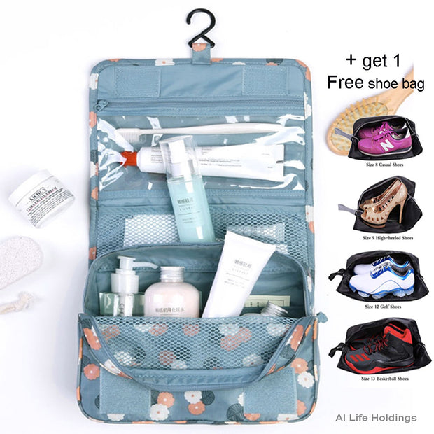 Travel Multifunction Toiletry Cosmetic Bag Makeup Case Pouch  Storage Case - AI LIFE HOLDINGS
