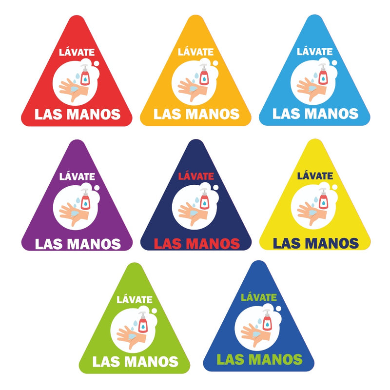 Stickers  Información Covid-19: Lávate las manos