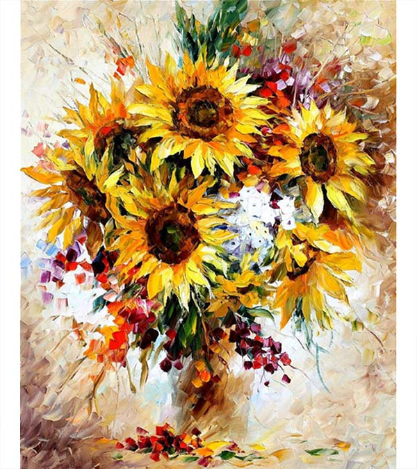 Abstract Sunflower Paint by Numbers - Goodnessfind