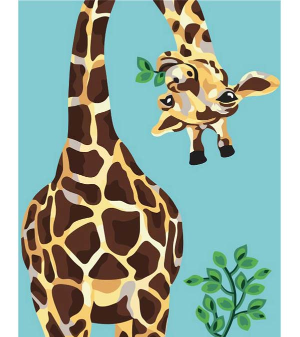 Happy Giraffe Paint by Numbers - Goodnessfind