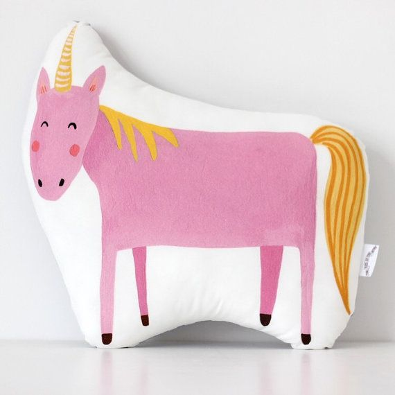 Unicorn Cushion - Pink