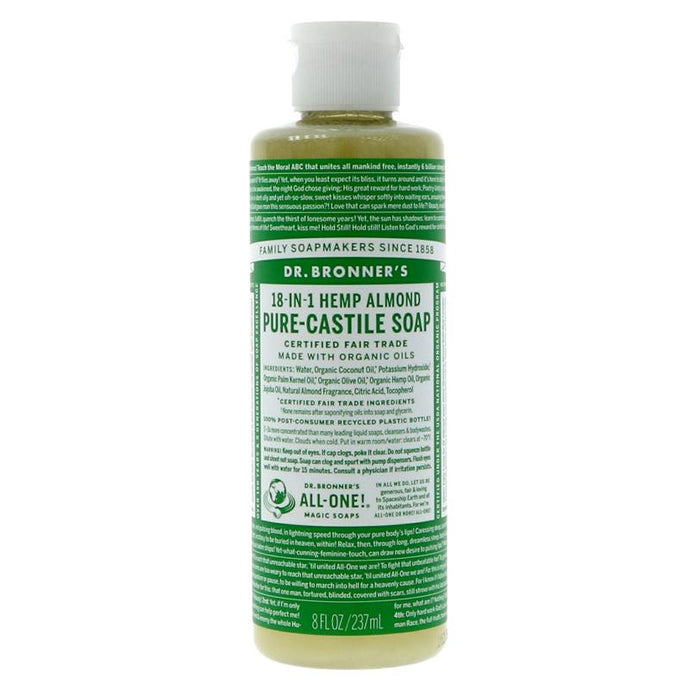 Dr Bronner's Almond Castile Liquid Soap 237ml