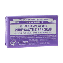 Load image into Gallery viewer, Dr Bronner's Lavender Castile Bar Soap 140g